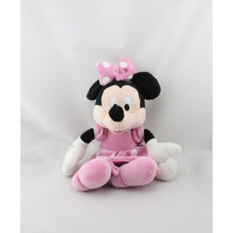 Peluche Minnie robe rose à pois DISNEY NICOTOY 25 cm