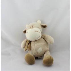 Doudou vache beige marron BENGY