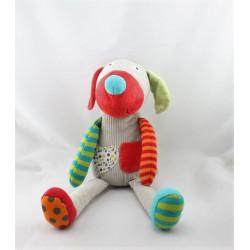 Doudou range pyjama lapin gris blanc rouge pois EBULOBO