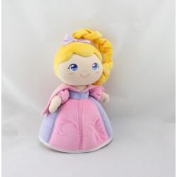 Doudou poupée princesse rose mauve jaune TRUDI