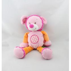 Doudou souris rose orange pois TEX BABY