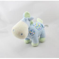 Doudou cheval bleu vert pois GIPSY
