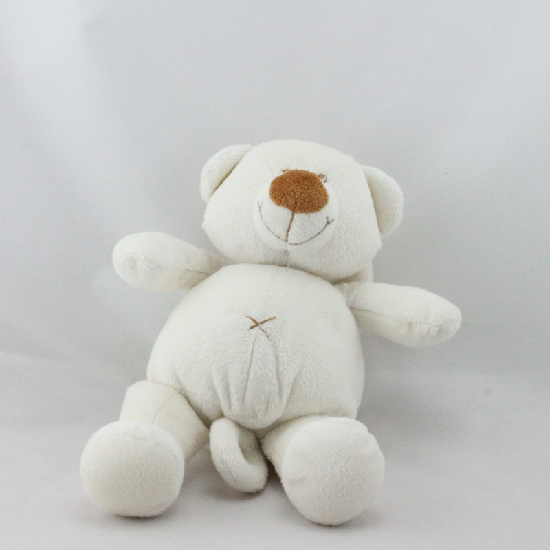 Doudou musical ours blanc PREMAMAN