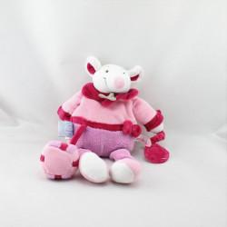 Doudou et compagnie souris rose cadeau miroir Graines de doudou