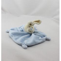 Doudou plat lapin écru bleu NICOTOY