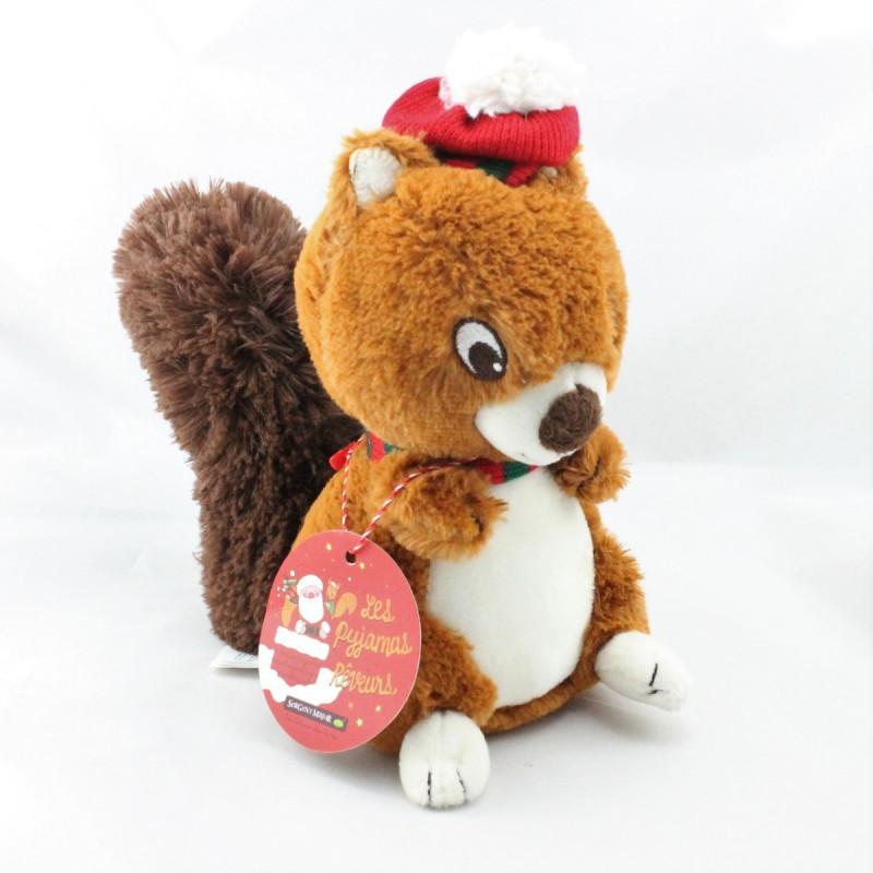 Doudou écureuil cannelle Gary SERGENT MAJOR