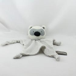 Doudou plat ours koala gris rayé ORCHESTRA