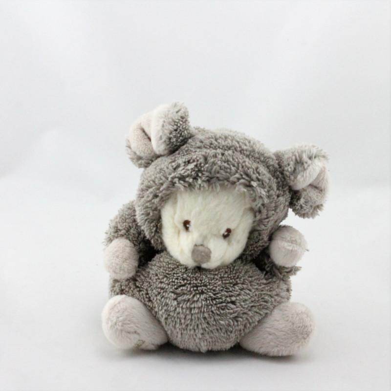 Peluche ours souris gris beige BUKOWSKI