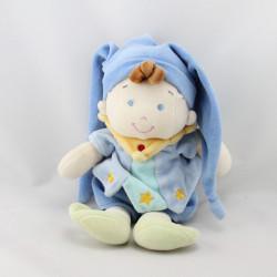 Doudou garçon arlequin bleu NICOTOY