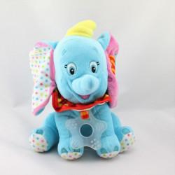 Doudou peluche Dumbo l'éléphant bleu rose hochet DISNEY NICOTOY