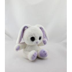 Doudou lapin blanc mauve PETILLOUS GIPSY