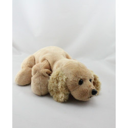 Doudou peluche chien beige SOFT FRIENDS