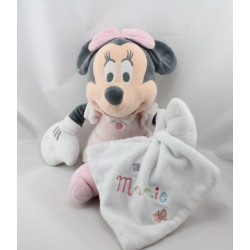 Doudou Minnie rose pois avec mouchoir blanc DISNEY STORE
