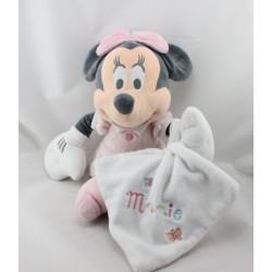 Doudou Minnie rose pois avec mouchoir blanc DISNEY STORE
