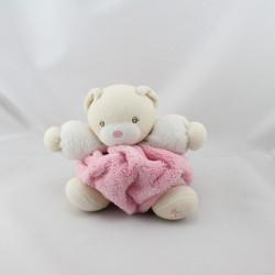 Doudou ours plume rose blanc KALOO