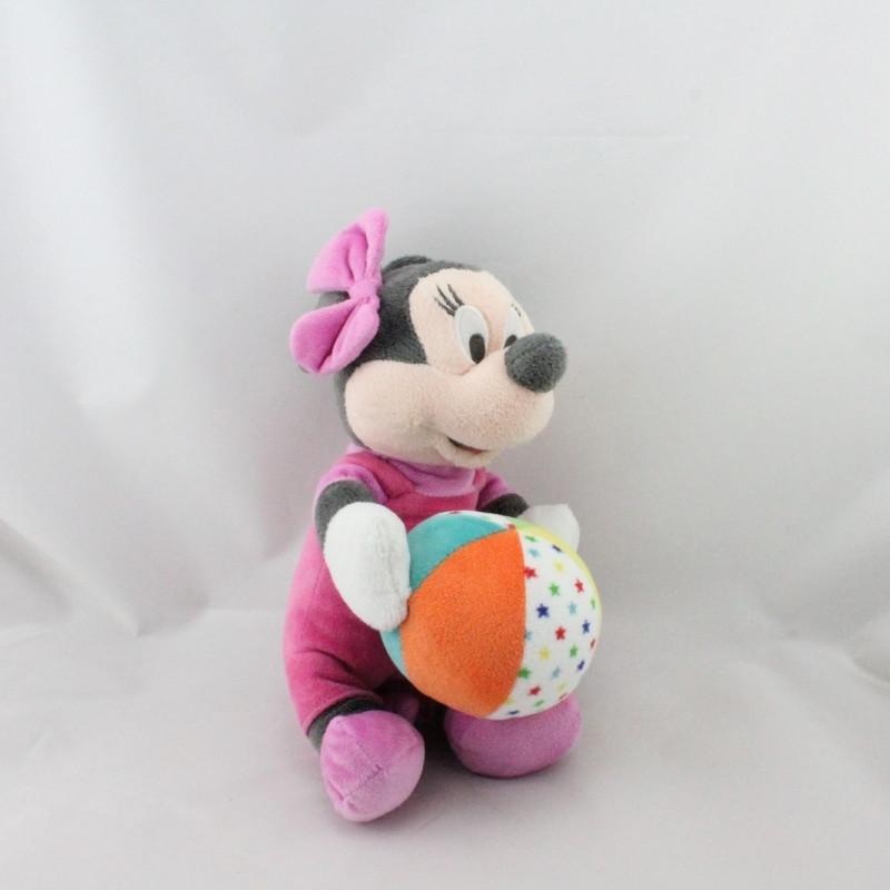 Peluche musical Minnie rose avec ballon DISNEY NICOTOY