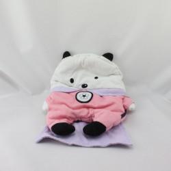 Doudou range pyjama ours rose blanc mauve super héros SERGENT MAJOR