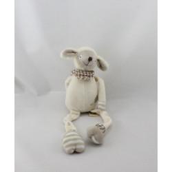 Doudou mouton blanc beige LES PETITES MARIE