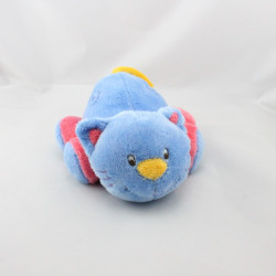 Doudou chat bleu rose jaune ADDEX JUNIOR
