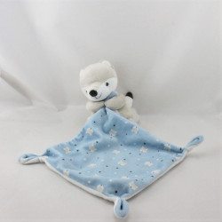 Doudou renard gris mouchoir bleu étoiles KIABI SIMBA TOYS