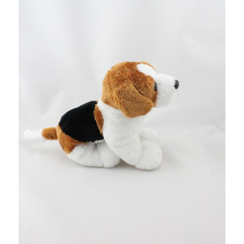 Doudou chien blanc noir marron GIPSY