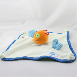 Doudou plat poisson blanc bleu orange Biocosmos ITSIMAGICAL