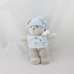 Doudou ours gris bleu étoiles NICOTOY