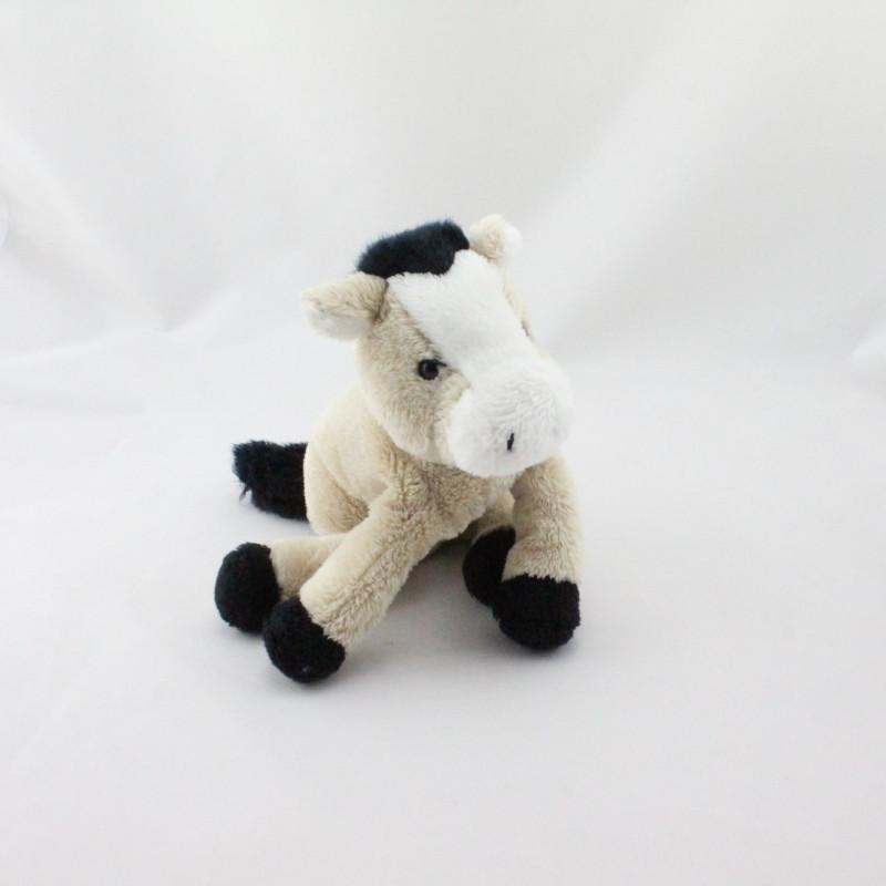 Doudou cheval beige noirs blanc LA MER DE SABLE CMP