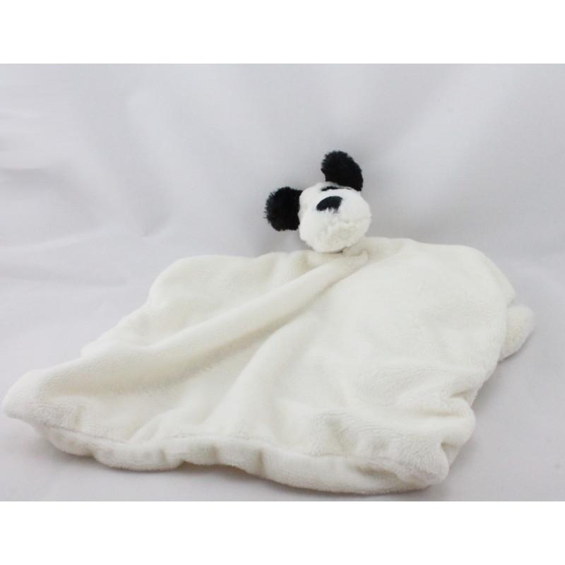 Doudou plat chien blanc noir JELLYCAT