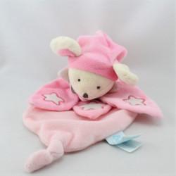 Doudou plat luminescent souris rose étoile BABY NAT