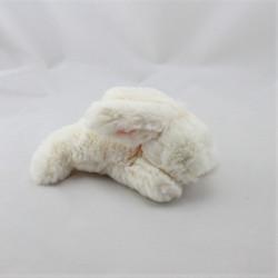 Mini Doudou lapin blanc rose JACADI