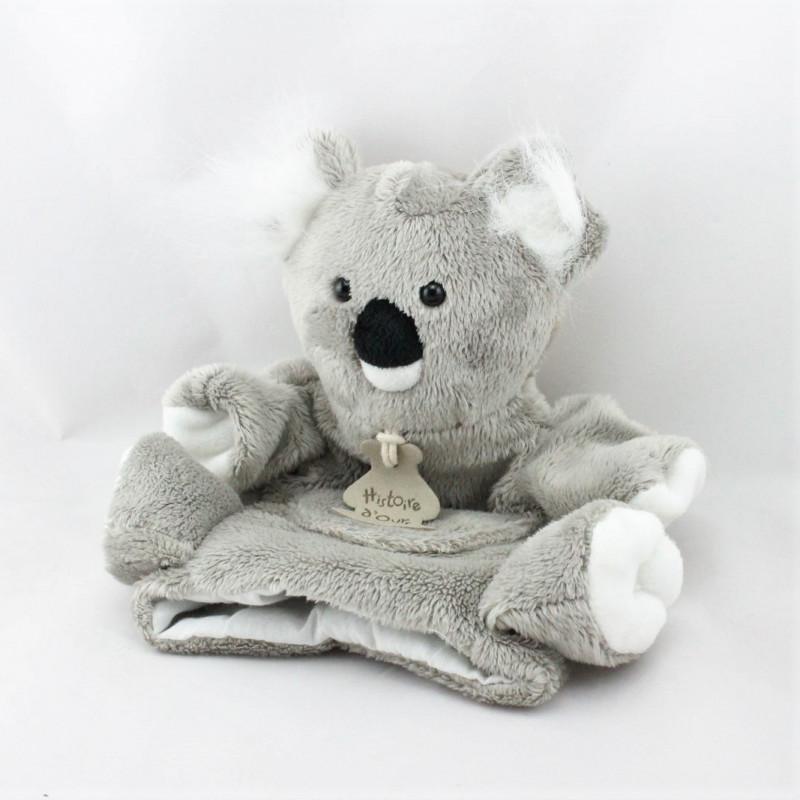 Doudou plat marionnette koala gris HISTOIRE D'OURS
