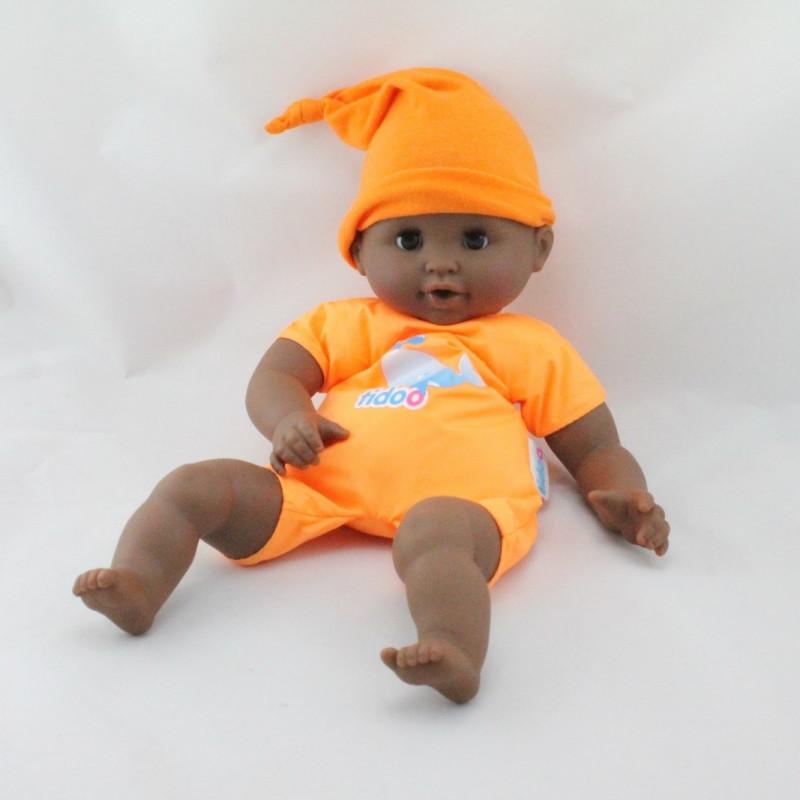 Poupée poupon bébé métis Tenue orange Tidoo COROLLE