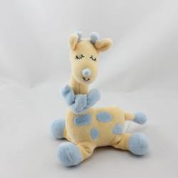 Doudou girafe jaune bleu JOLLYBABY