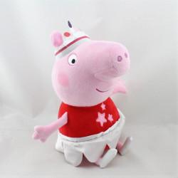 Doudou peluche  cochon rose rouge Tutu PEPPA PIG