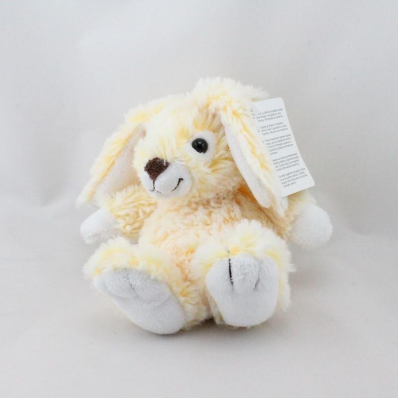 Doudou lapin jaune tout doux GIPSY