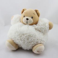 Doudou ours blanc écru fourrure Fur KALOO