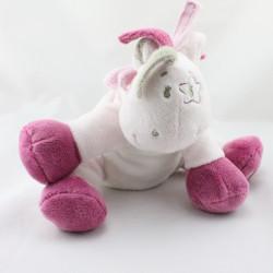 Doudou poney cheval rose beige étoile Victoria et Lucie NOUKIE'S