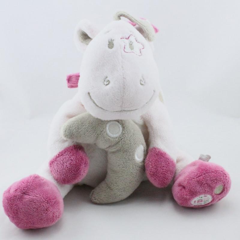 Doudou musical poney cheval rose beige étoile Victoria et Lucie NOUKIE'S