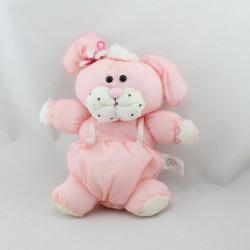 Peluche Puffalump chien rose blanc 1986 LUCKY BELL