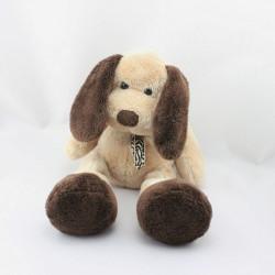 Doudou chien beige marron KIABI 30 cm