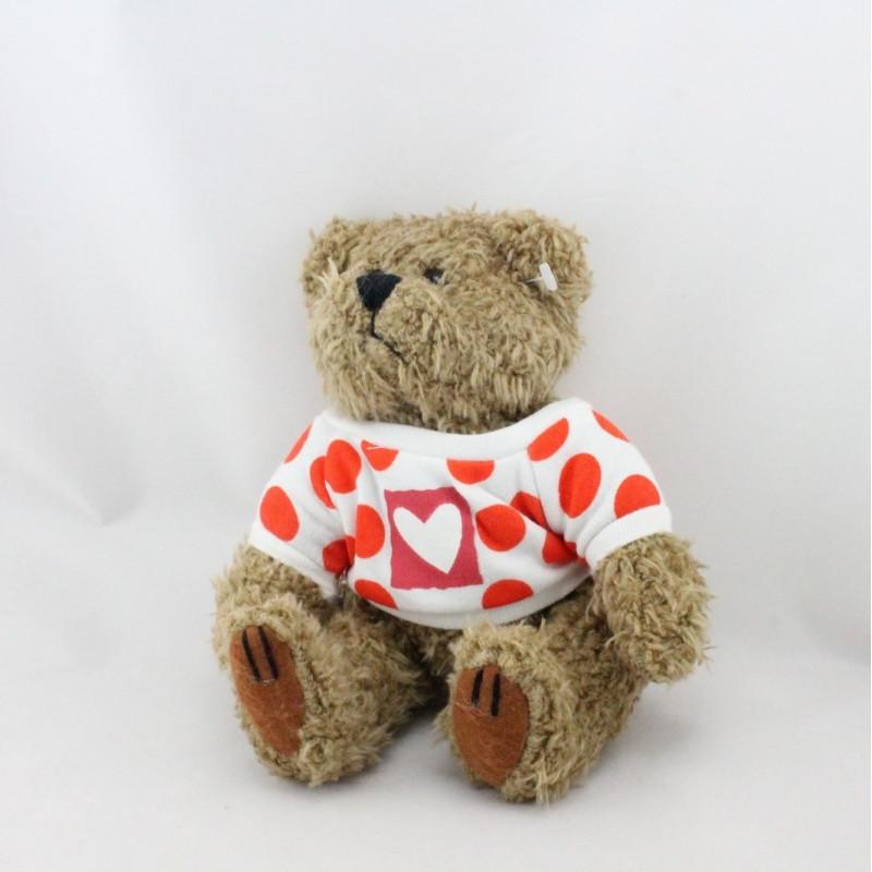 Peluche ours marron petit coeur Champion