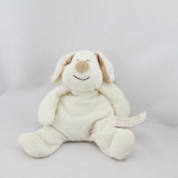 Doudou chien blanc écru beige TIAMO COLLECTION