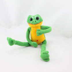Doudou grenouille verte jaune Les Jouets Tout Compte Fait