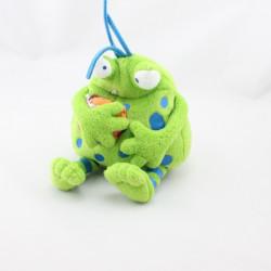 Doudou peluche Les Gentils Monstres vert pois bleu