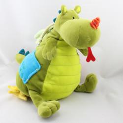 Doudou musical dragon vert Walter LILLIPUTIENS