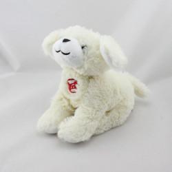 Doudou chien blanc os rouge qui aboie GIPSY