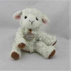 Doudou et compagnie mouton blanc beige