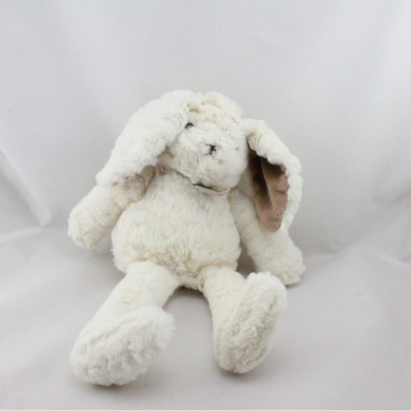 Doudou lapin blanc beige HISTOIRE D'OURS