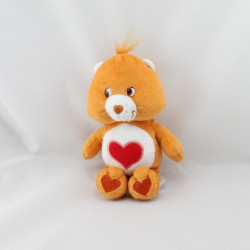 Peluche Bisounours orange coeur Grosbisous CARE BEARS